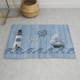 Ahoy - Maritime blue Rug