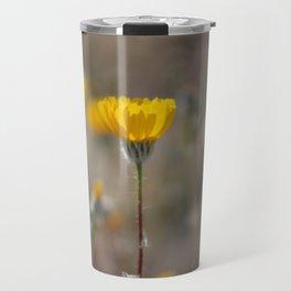 Closeup Desert Sunflowers Coachella Wildlife Preserve Travel Mug