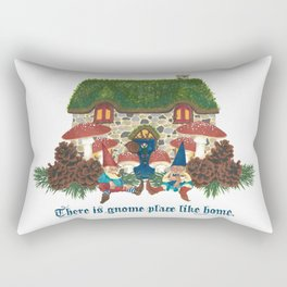Gnome Place Like Home Rectangular Pillow