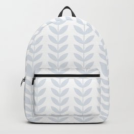 Light Grey Scandinavian leaves pattern Backpack