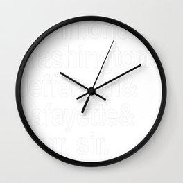 Hamilton- Hamilton & Washington & Jefferson & Lafayette & Burr, sir. Wall Clock