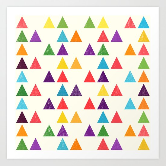 Lovely geometric Pattern XII Art Print