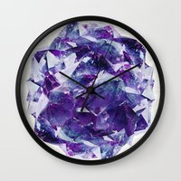 mineral Wall Clocks featuring Mineral by Lindella