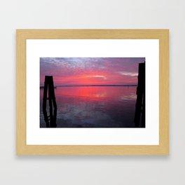 Caloosahatchee Sunset Framed Art Print