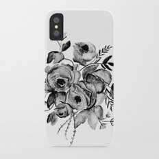 GREYSCALE ROSES iPhone X Slim Case
