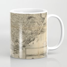 Vintage Pictorial Map of Tacoma WA (1893) Coffee Mug