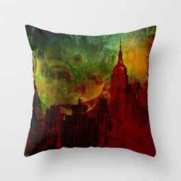 The clairvoyant of Rhode island Throw Pillow