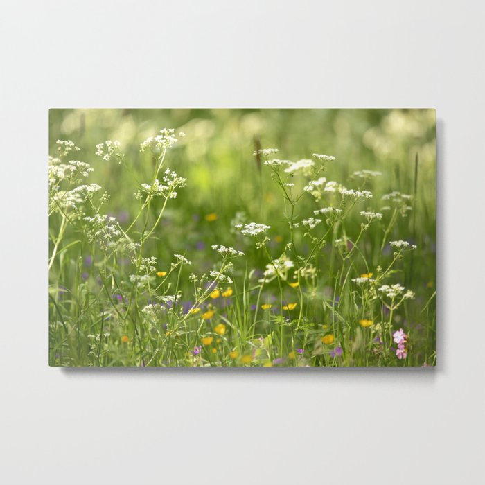Green Summer Meadow #decor #society6 Metal Print