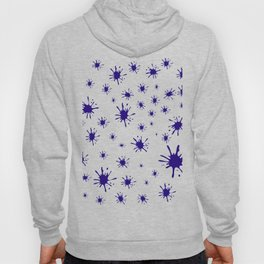 blue spots on white background Hoody