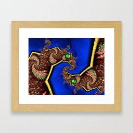 Twin Dragons Framed Art Print