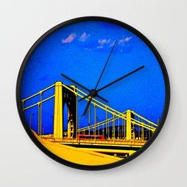 The 3 Sisters Bridges Wall Clock