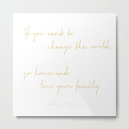 Love Your Family Metal Print