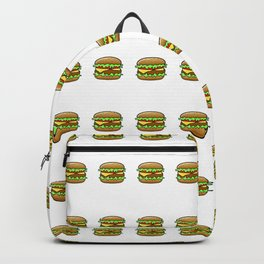 Hamburger Repeat Pattern Backpack