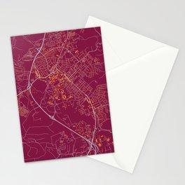 BLACKSBURG VIRGINIA COLLEGIATE MAP HANDRAWN Stationery Cards