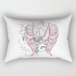 Angels Lyrics Flying Rectangular Pillow