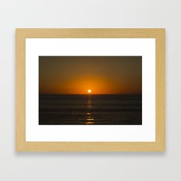 Pure Orange Sunset Framed Art Print