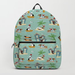 The Ultimate Dog Vacation pattern Backpack