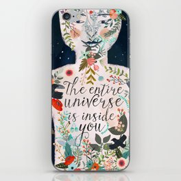 The entire universe is inside you iPhone Skin