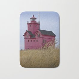 The Lighthouse Big Red in Holland Michigan Bath Mat