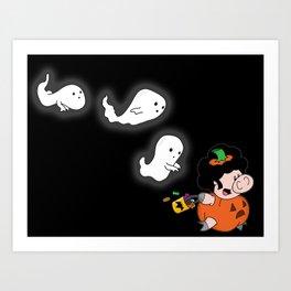 Pumpkin run Art Print