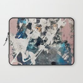 Breaker of Chains: a colorful abstract with white pink blue gray and gold Laptop Sleeve