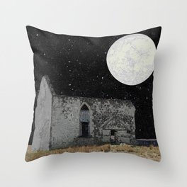 In the cosmic overwhelm Throw Pillow