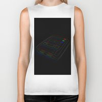 gaming Biker Tanks featuring SNES Gaming by Gudrun Galdean