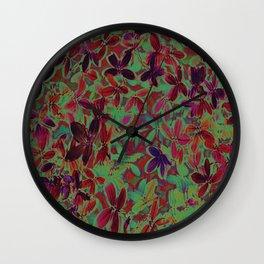 Flora Celeste Purple Agata Leaves   Wall Clock