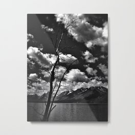 Teton Morning B&W Metal Print