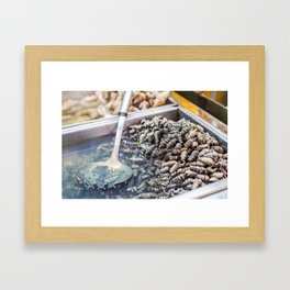 Snail Snack, Korean Street Food Framed Art Print
