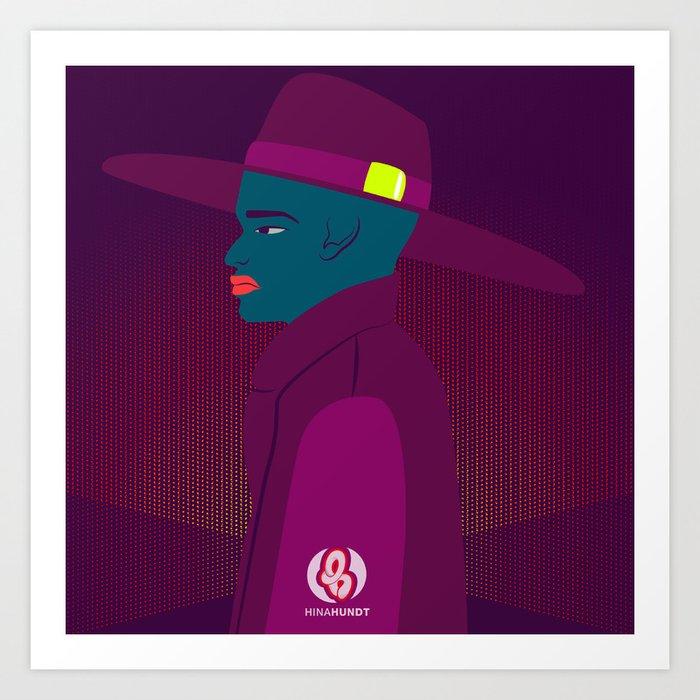 ManHat Art Print