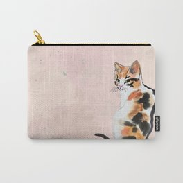 Green eyed calico Carry-All Pouch