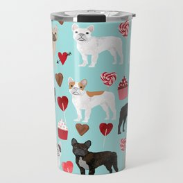 French Bulldog cupcakes valentines love hearts cute frenchie must have gifts Travel Mug