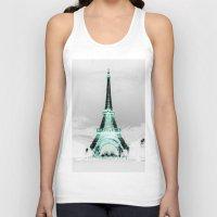 paris Tank Tops featuring pariS Black & White + Mint by 2sweet4words Designs