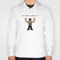wreck it ralph Hoodies featuring Bane's Gonna Wreck It by LegoBatman