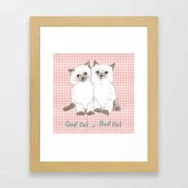Naughty Kittens Framed Art Print