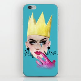 Queen Velour iPhone Skin