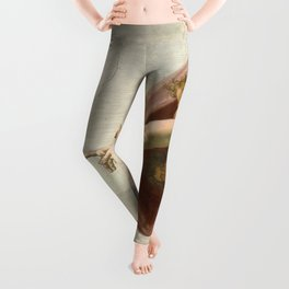 Michelangelo - Creation of Adam Leggings