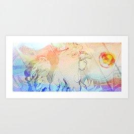 El Gallo Ralph (version très bien) Art Print