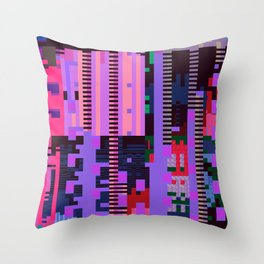 taintedcanvasmosh1 Throw Pillow