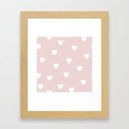Heart Patter - Baby Pattern Framed Art Print