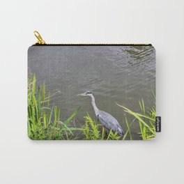 Beautiful Blue Heron Carry-All Pouch