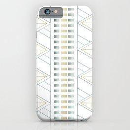 Gold Aqua Geometric Pattern 1.0 iPhone Case