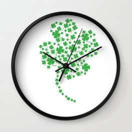Green Clover Leaf Irish Best Gift On St Patricks Day Wall Clock