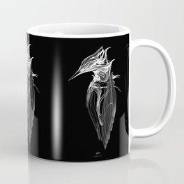 Kingfisher 1b.  White on black  background-(Red eyes series) Coffee Mug