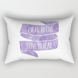 I Read To Live, I Live To Read - Purple Rectangular Pillow