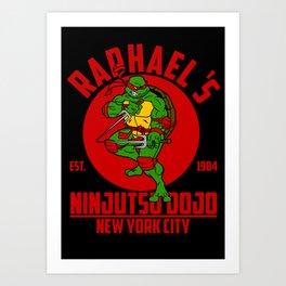 Raphael's dojo Art Print