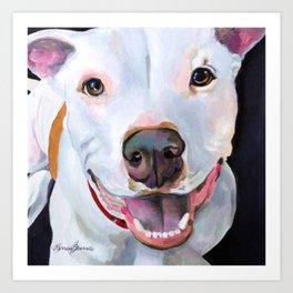 Charlie the Pitbull Art Print