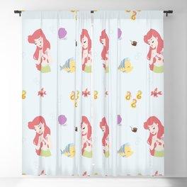 Mermaid Crew Pattern Blackout Curtain