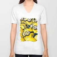 lannister V-neck T-shirts featuring DESPICABLE MINION by BeautyArtGalery